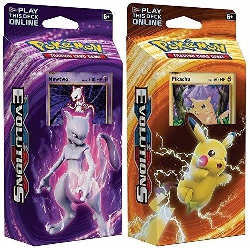 cartas pokemon tcg evolutions deck / mazos originales c/u