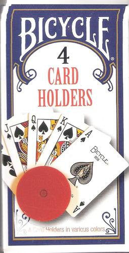 cartas poker canasta, etc. sujetador de cartas, 4  por caja.