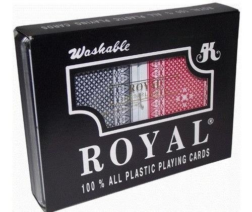 cartas poker royal original estuche 100% plastificada juego