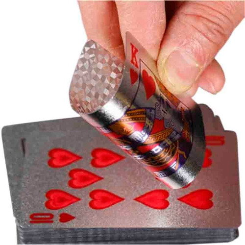 cartas remis baraja doradas plateadas poker durable flexible