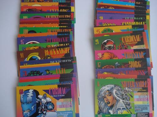 cartas universo marvel de 1993 nuevas  precio x 10 piezas