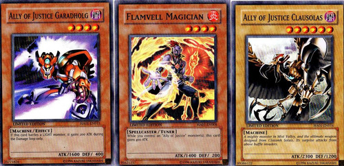 cartas yugioh combo ally of justice foil  limited edition