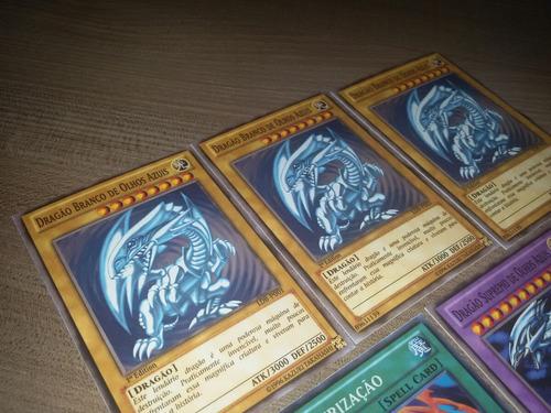 cartas yugioh - kit dragão branco de olhos azuis português