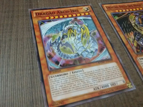 cartas yugioh - kit dragões arco íris
