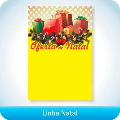 cartaz de oferta natal 21,5x31,5cm  pdv print 1000 un