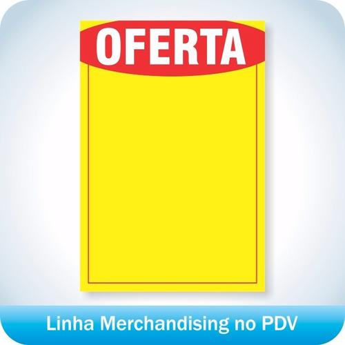 cartaz de ofertas e promoções 21,5x31,5cm pdv print 100 un