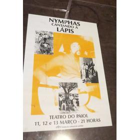 Cartaz De Show Raro - Curitiba  Lapis Por Banda Nymphas Raro
