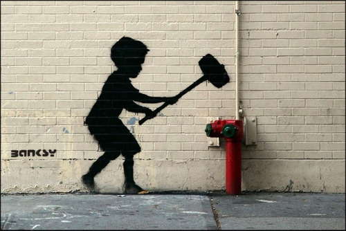 cartaz grafite 60x90cm banksy poster arte urbana irreverente