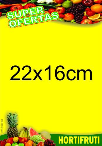 cartaz hortifruti papel cartão 250g 22x16 cm pct 500und.