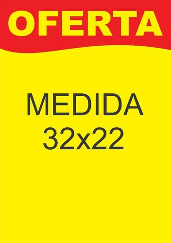 cartaz oferta 32x22 cm - papel dupléx 250g pct. 200 und