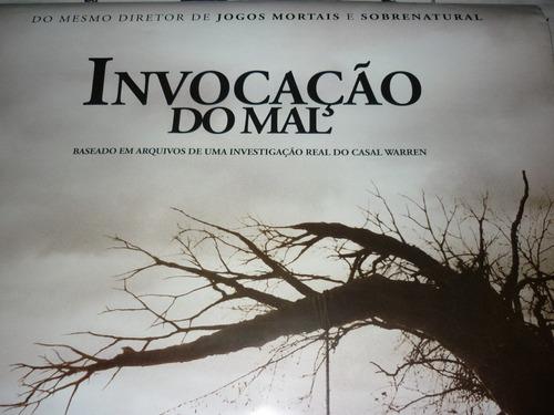 cartaz original dupla-face do filme invocação do mal / ver.1