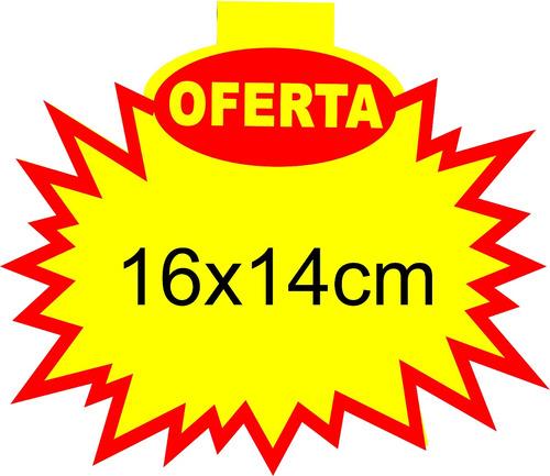 cartaz splash oferta 16x14 cm papel dupléx 250g - 1000 und