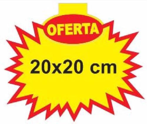 cartaz splash oferta 20x20 cm papel dupléx 250g - 100 und