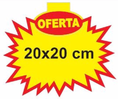 cartaz splash oferta 20x20 cm papel dupléx 250g - 200 und