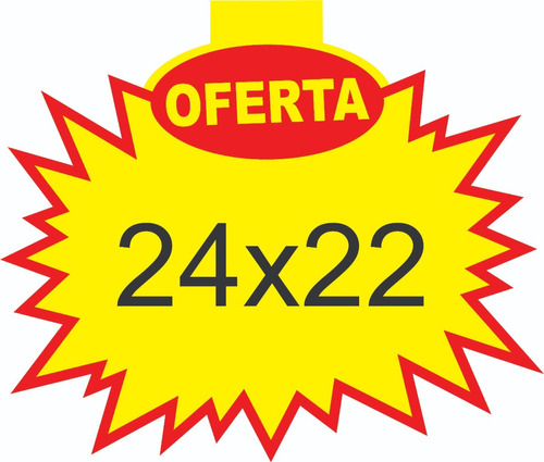 cartaz splash oferta 24x22 cm papel dupléx 250g - 100 und