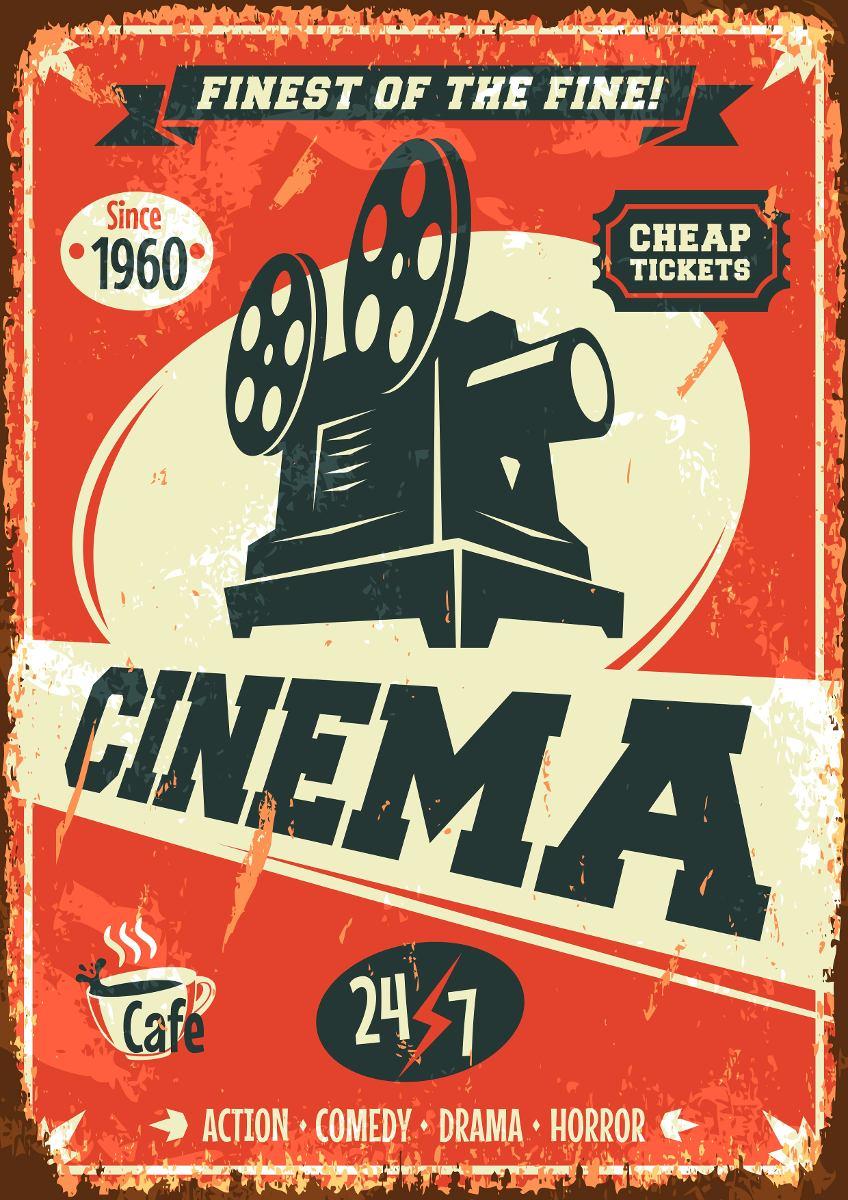 cartaz vintage decora o cinema retro oldschool poster a3 r 14 98 em mercado livre. Black Bedroom Furniture Sets. Home Design Ideas