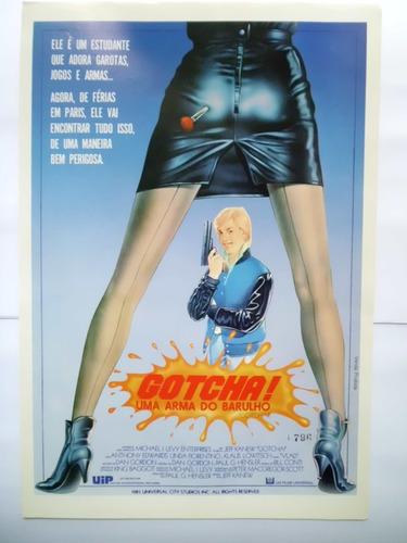 cartazete/sinopse do filme gotcha uma arma do barulho