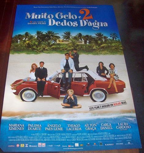 cartaz/poster cinema filme muito gelo e 2 dedos d´agua