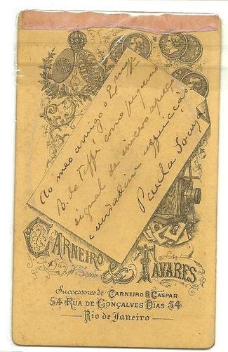 carte de visite - fot. carneiro & tavares