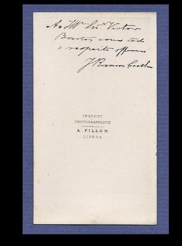 carte de visite-josé ramos coelho,poeta e historiador-portug