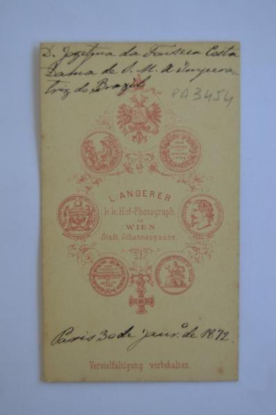 Carte De Visite Josefina Da Fonseca Costa Baronesa E Viscon