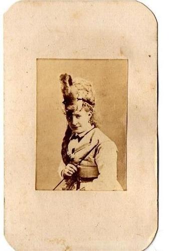 carte de visite -lydia thompson -dançarina,comediante,atriz
