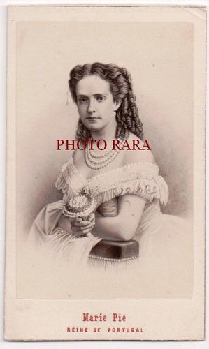 carte de visite - maria pia - rainha de portugal