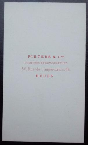 carte de visite- pieters & cie.-rouen / frança