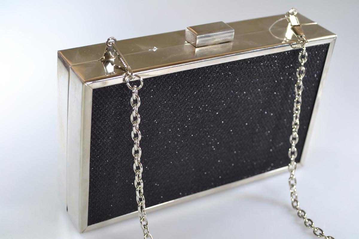f7e7a408f6 carteira bolsa clutch festa gliter metal preta dourada. Carregando zoom.