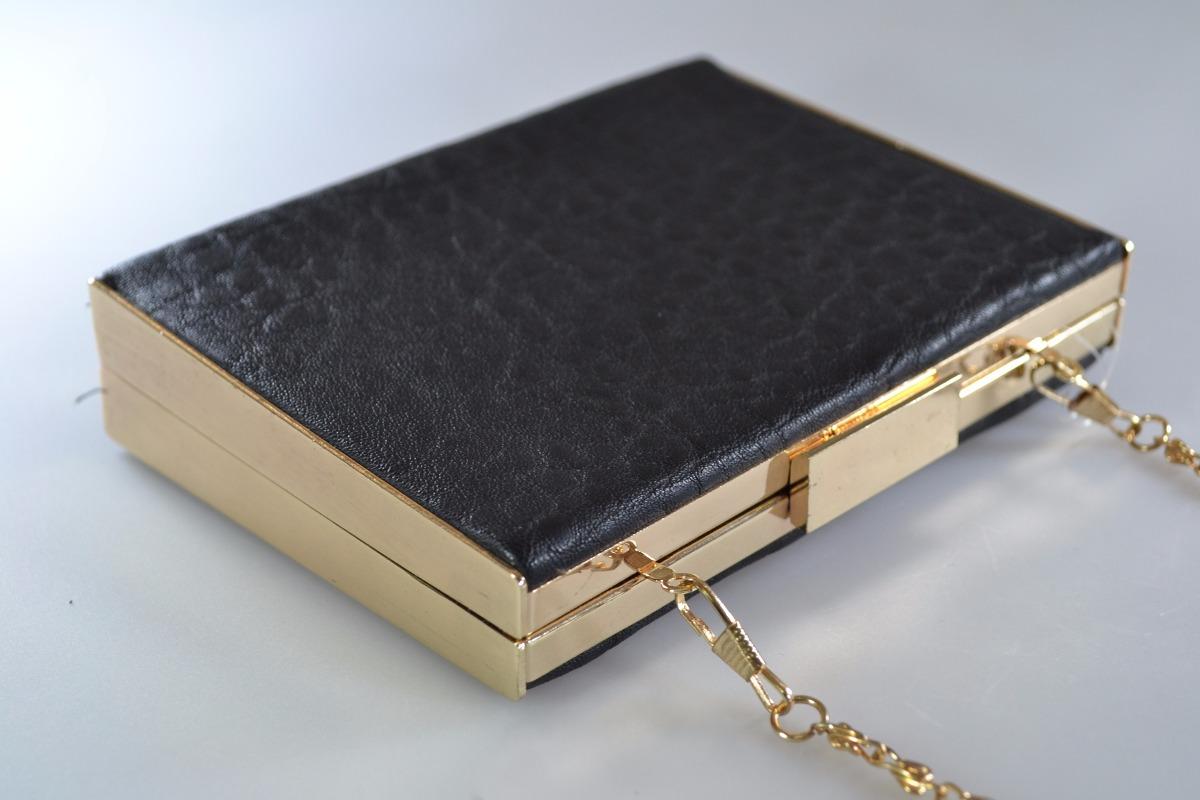 4d4b5e8a01 carteira bolsa clutch festa pu metal preta dourada. Carregando zoom.