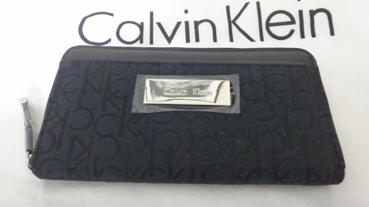carteira calvin klein feminina cor preta 100% original. Carregando zoom. 9e6f2465b9