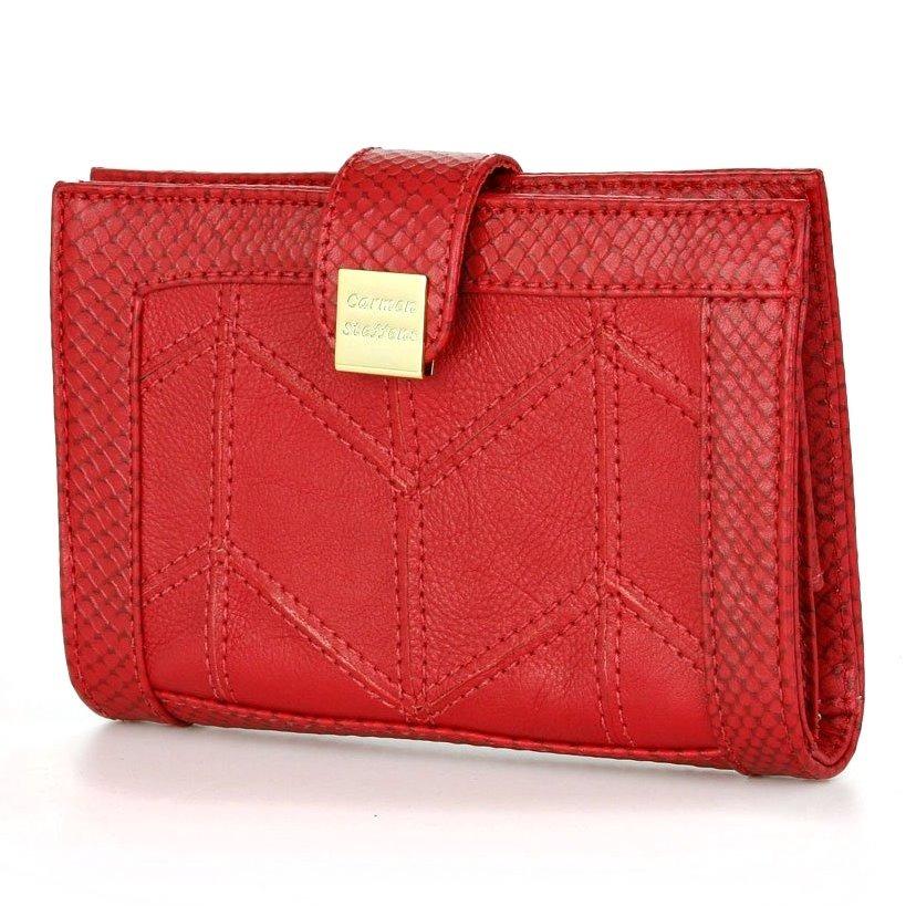 6a1f526105 carteira carmen steffens feminina couro legitimo vermelha. Carregando zoom.