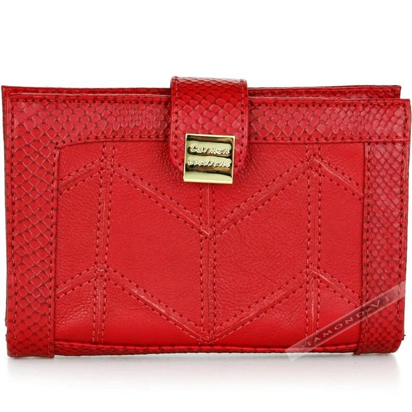 260272cb94 carteira couro legítimo carmen steffens vermelha original. Carregando zoom.