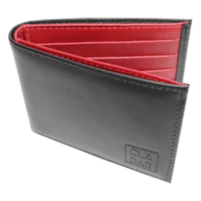 b6dde91c51 Carteira Couro Legítimo Chicago Preta Com Vermelho - R$ 95,96 em ...
