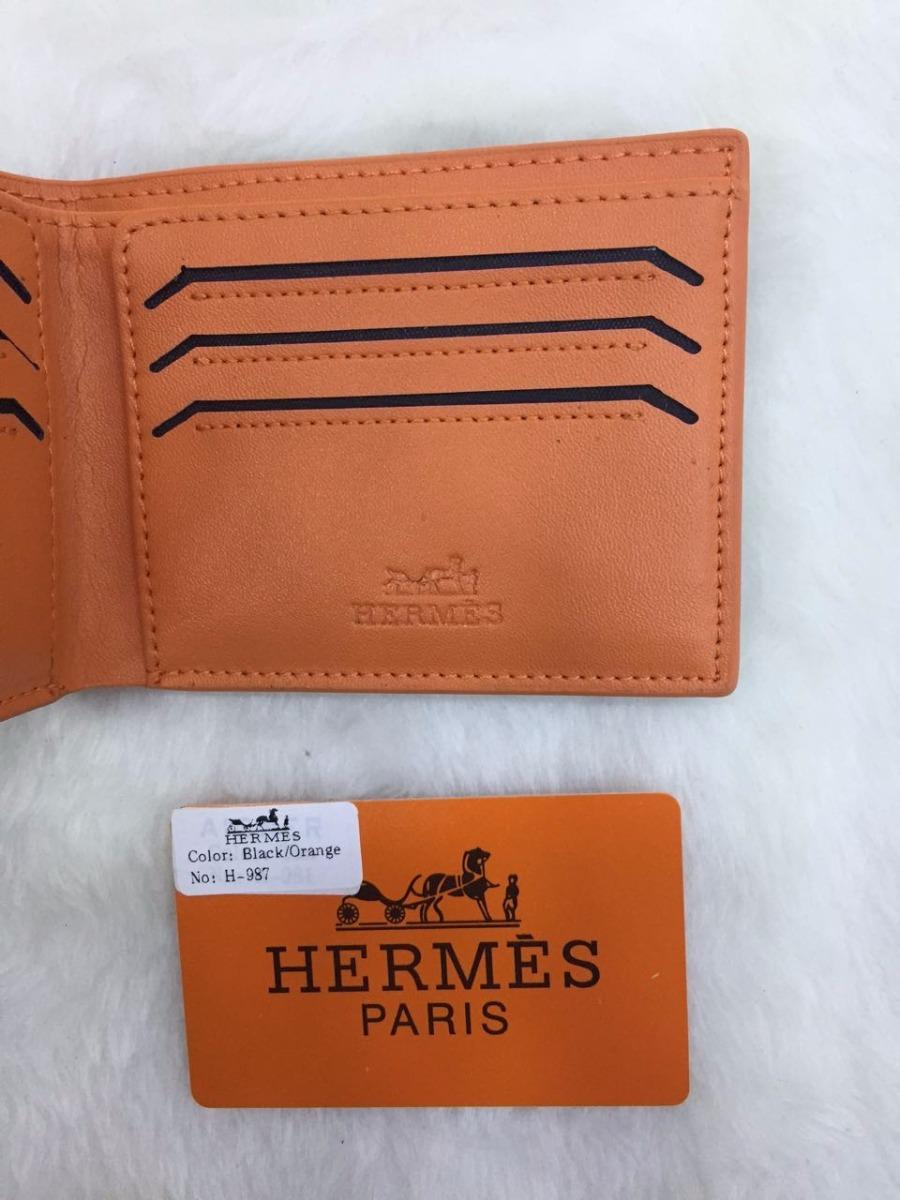 0cca9a27970 carteira da marca hermes couro legitimo importada masculina. Carregando  zoom.