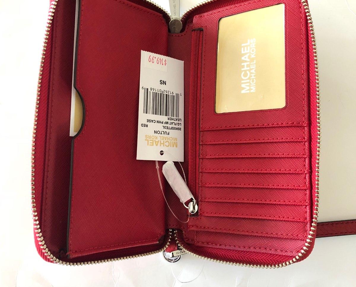 2a311c219db43 carteira de couro feminina michael kors vermelha original. Carregando zoom.