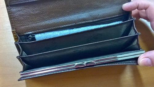 carteira de couro importada excelente acabamento e diversas