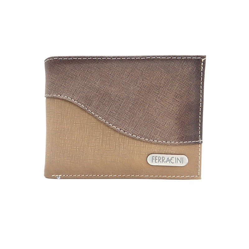 cc124289d carteira de couro masculina cfb014 - ferracini - areia/jeans. Carregando  zoom.