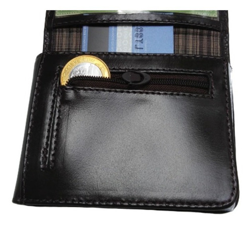carteira de couro masculina pequena bizzon original nacional