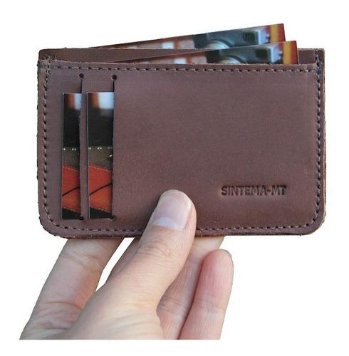 carteira de couro slim personalizada com logo 100 unidades