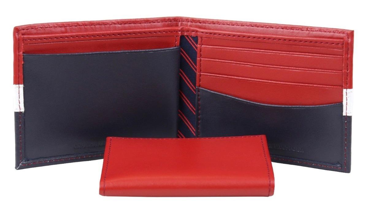 a075f1046 carteira de couro tommy hilfiger 3 cores 100% original eua. Carregando zoom.