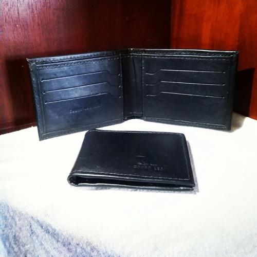 carteira em couro legitimo ncb toda em preto