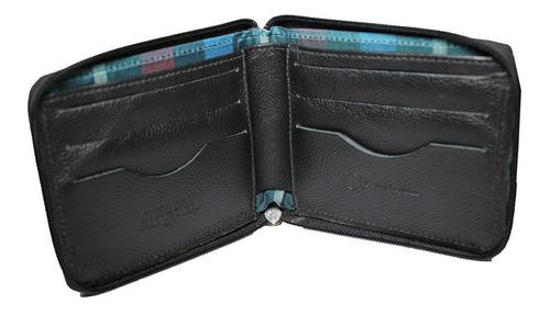 carteira em couro preto - c008