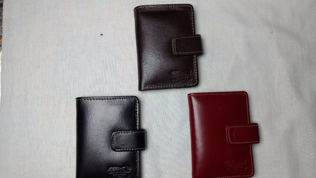 carteira feminina 100% couro legítimo porta cartões e notas. Carregando  zoom. 188c446f936