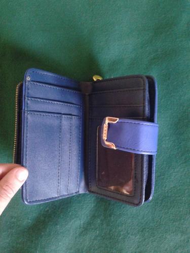 carteira feminina azul
