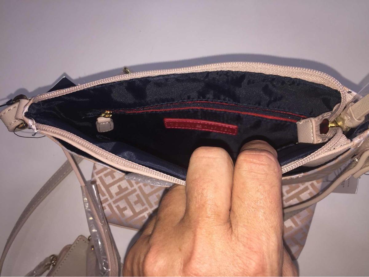 7ada4b87c Carregando zoom... bolsa c/ carteira tommy hilfiger feminina rosé e branca
