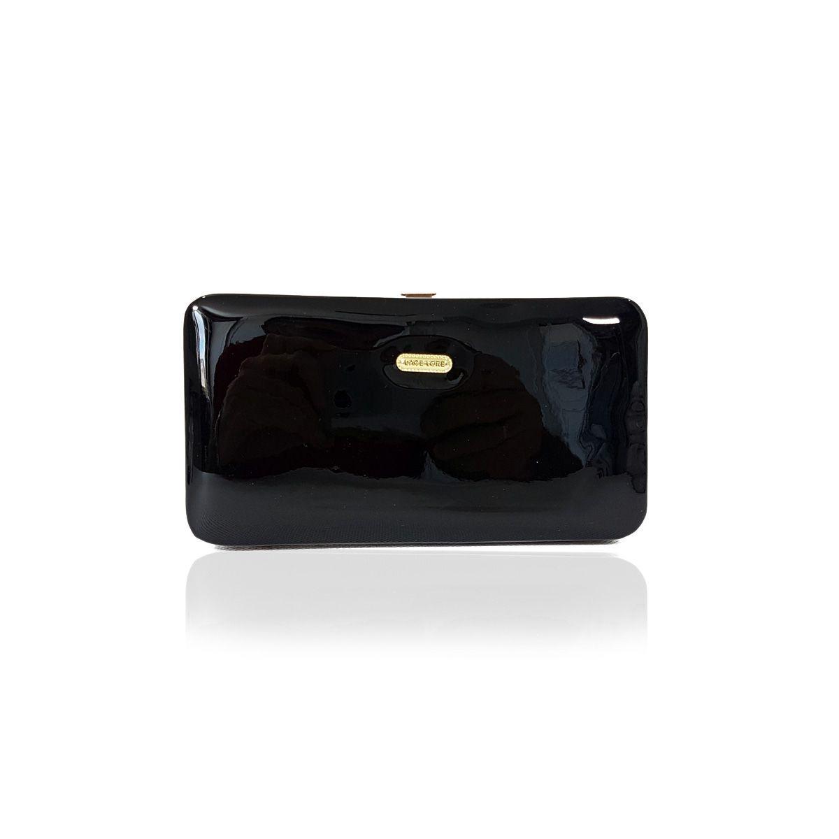1b42b6db24 Carteira Feminina Clutch Mão Cartões Celular Verniz Ab8059 - R$ 39 ...