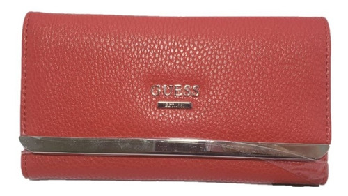 carteira feminina guess est. 1981 vermelha | entrega rápida
