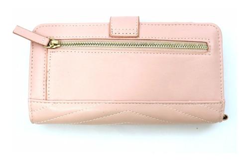 carteira feminina guess rosa original   frete grátis
