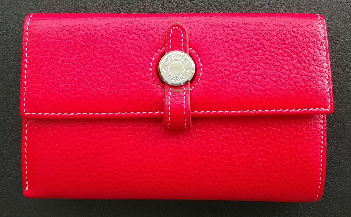 db17f339a65 carteira feminina hermes - couro legitimo vermelha. Carregando zoom.